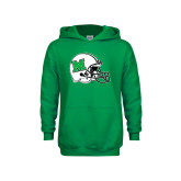 Youth Kelly Green Fleece Hoodie-Marshall Football Helmet