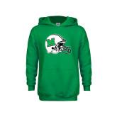 Youth Kelly Green Fleece Hoodie-Marshall Football Helmet