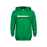 Youth Kelly Green Fleece Hood-Marshall University