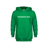 Youth Kelly Green Fleece Hood-Thundering Herd