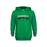 Youth Kelly Green Fleece Hoodie-Marshall The Herd Design