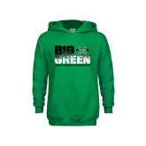 Youth Kelly Green Fleece Hood-Big Green
