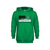 Youth Kelly Green Fleece Hood-Big Green