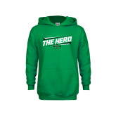 Youth Kelly Green Fleece Hoodie-The Herd Fancy Lines
