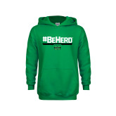 Youth Kelly Green Fleece Hoodie-BeHerd