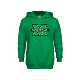 Youth Kelly Green Fleece Hood-Basketball