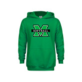 Youth Kelly Green Fleece Hood-Softball