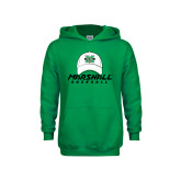 Youth Kelly Green Fleece Hood-Baseball Hat Design