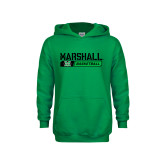 Youth Kelly Green Fleece Hood-Basketball Bar Design