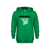 Youth Kelly Green Fleece Hoodie-Basketball Net Design