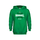 Youth Kelly Green Fleece Hoodie-Softball Ball Design