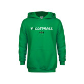 Youth Kelly Green Fleece Hood-Volleyball Ball Design