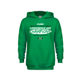 Youth Kelly Green Fleece Hoodie-2018 Mens Basketball Champions - Brush