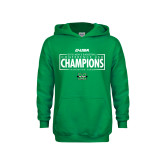 Youth Kelly Green Fleece Hoodie-2018 Mens Basketball Champions - Box