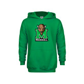 Youth Kelly Green Fleece Hood-Official Logo