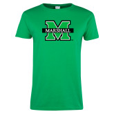 Ladies Kelly Green T Shirt-M Marshall
