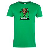 Ladies Kelly Green T Shirt-Official Logo