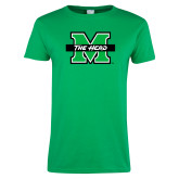 Ladies Kelly Green T Shirt-M The Herd