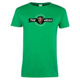 Ladies Kelly Green T Shirt-Marshall University The Herd