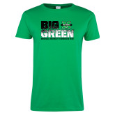 Ladies Kelly Green T Shirt-Big Green