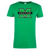 Ladies Kelly Green T Shirt-Soccer