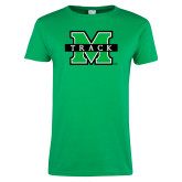 Ladies Kelly Green T Shirt-Track
