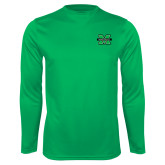 Performance Kelly Green Longsleeve Shirt-M Marshall