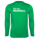 Performance Kelly Green Longsleeve Shirt-We Are Marshall