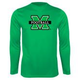 Syntrel Performance Kelly Green Longsleeve Shirt-Football