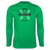 Syntrel Performance Kelly Green Longsleeve Shirt-Baseball Ball Design