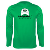 Performance Kelly Green Longsleeve Shirt-Baseball Hat Design