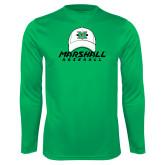 Syntrel Performance Kelly Green Longsleeve Shirt-Baseball Hat Design