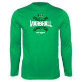 Syntrel Performance Kelly Green Longsleeve Shirt-Softball Ball Design