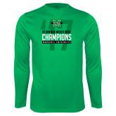Syntrel Performance Kelly Green Longsleeve Shirt-Gildan New Mexico Bowl