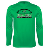 Performance Kelly Green Longsleeve Shirt-Gildan New Mexico Bowl