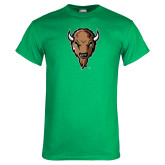 Kelly Green T Shirt-Mascot Head