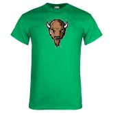 Kelly Green T Shirt-Mascot Head