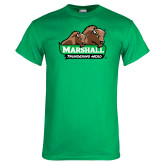 Kelly Green T Shirt-Thundering Herd in Front of Herd