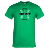 Kelly Green T Shirt-Baseball Ball Design