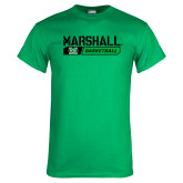 Kelly Green T Shirt-Basketball Bar Design