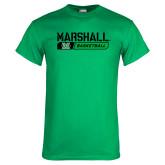 Kelly Green T Shirt-Basketball Bar Design