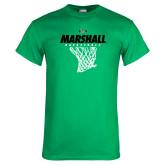 Kelly Green T Shirt-Basketball Net Design