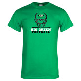 Kelly Green T Shirt-Football Helmet Design
