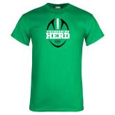 Kelly Green T Shirt-Football Vertical Design