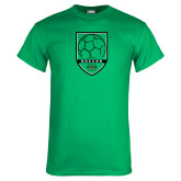 Kelly Green T Shirt-Soccer Shield Design