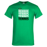 Kelly Green T Shirt-Tennis Stacked Design