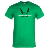 Kelly Green T Shirt-Track and Field Wings Design