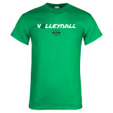 Kelly Green T Shirt-Volleyball Ball Design