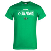 Kelly Green T Shirt-2018 Mens Basketball Champions - Box