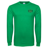 Kelly Green Long Sleeve T Shirt-M Marshall